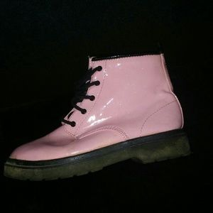 Candies (girl) Pink Sparkle CombatBoots sz 5